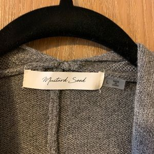 Mustard Seed Sweaters - Super comfy gray cardigan